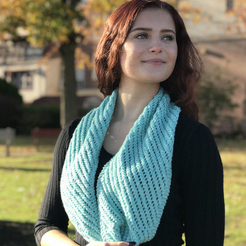 View larger image of F951 Sea Isle Cotton Diagonal Lace Cowl (Free)