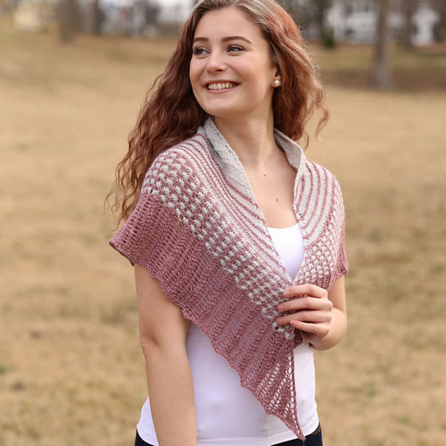 View larger image of F959 Tussah Kissed Shawl (Free)
