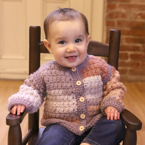 View larger image of F968 Hot Cakes with Encore Worsted Crochet Bomber and Hat (Free)