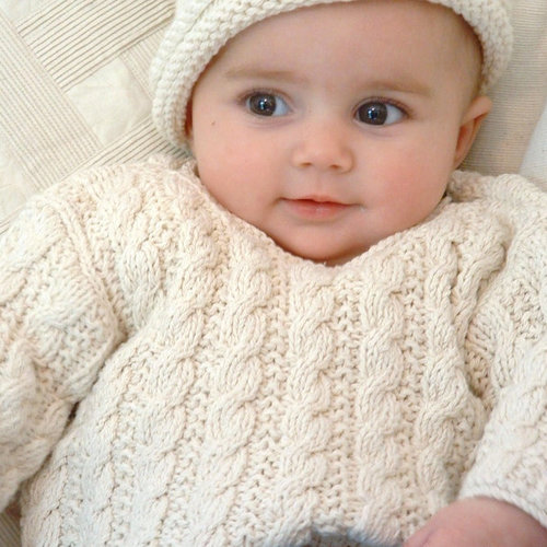 View larger image of Mini Cable Sweater 0-8 Months PDF