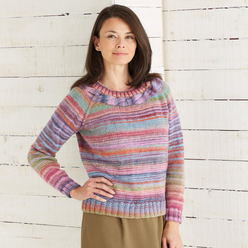View larger image of 10028 Pullover in Jewelspun PDF