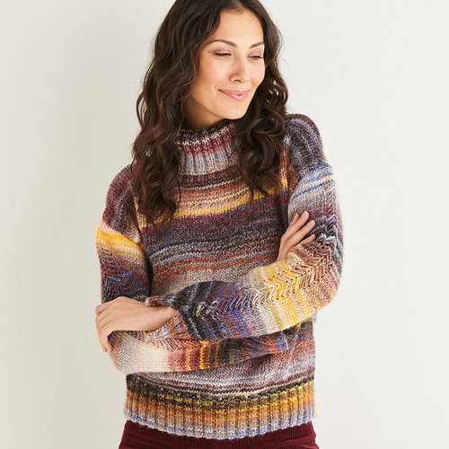 View larger image of 10139 Roll Neck Sweater in Jewelspun PDF