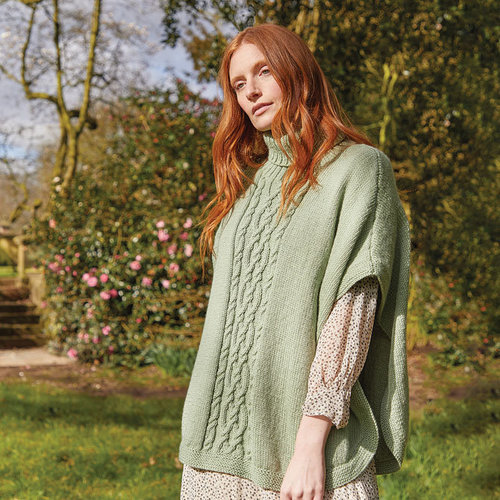 View larger image of 10163 Roll Neck Poncho in Country Classic Worsted PDF