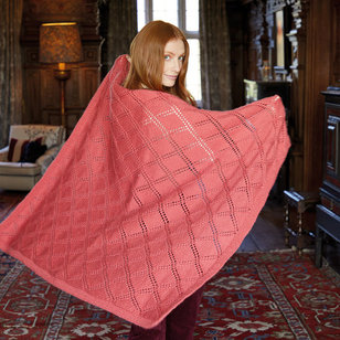 10164 Diamond Trellis Afghan in Country Classic Worsted PDF