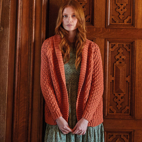 View larger image of 10165 Shawl Collar Cardigan in Country Classic Worsted PDF
