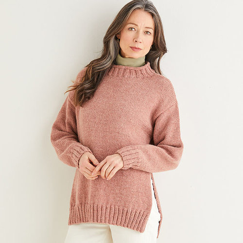 View larger image of 10177 Split Seam Sweater in Saltaire PDF