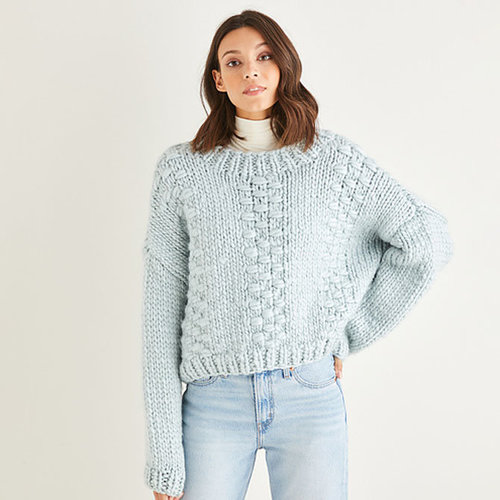 View larger image of 10188 Textured Panel Sweater in Adventure PDF