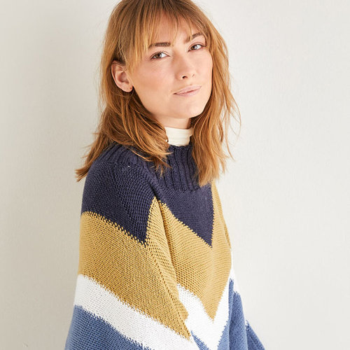 View larger image of 10205 Color Block Poncho PDF