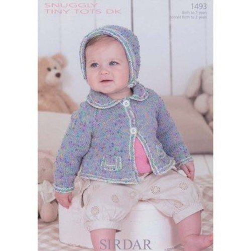 View larger image of 1493 Girl's Cardigan & Bonnet