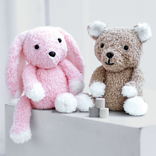 View larger image of 2521 Teddy and Bunny Toy in Snuggly Bunny PDF