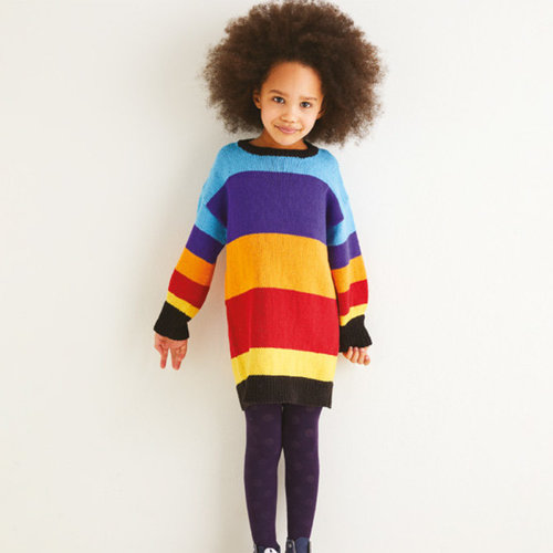 View larger image of 2551 Kids Striped Colourblock Dress in Replay PDF