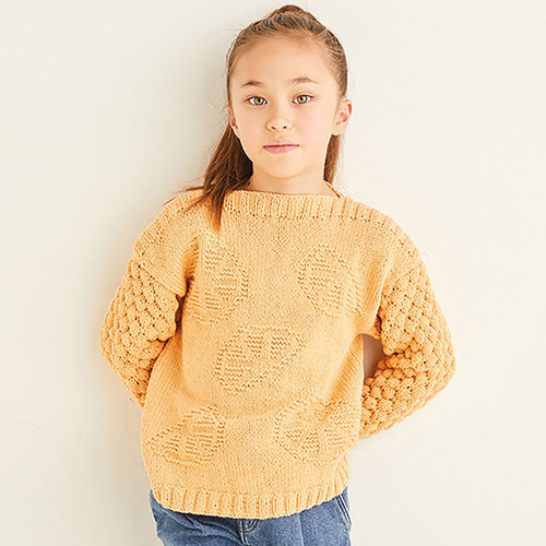 View larger image of 2568 Orange Segment Wide Neck Sweater in Snuggly Replay PDF