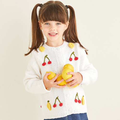 View larger image of 2569 Cherry & Lemon Cardigan in Snuggly Replay PDF