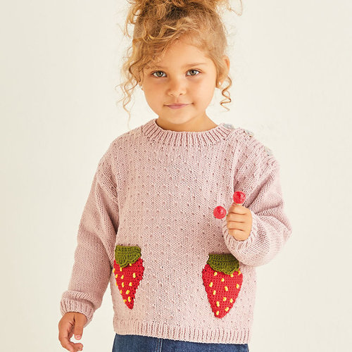 View larger image of 2570 Strawberry Sweater & Cardigan in Snuggly Replay PDF