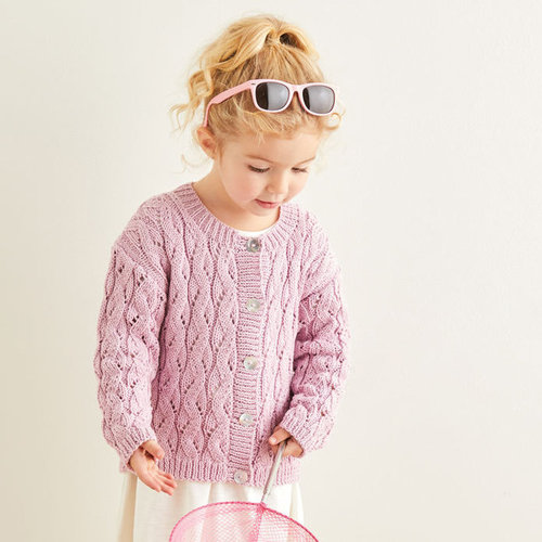 View larger image of 2576 Wave Lace Cardigans in Snuggly 100% Cotton PDF