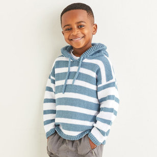 2577 Deck Chair Striped Hoodie in Snuggly 100% Cotton PDF