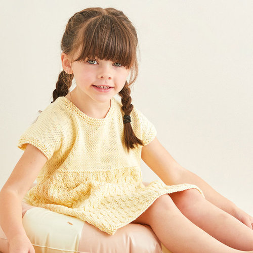 View larger image of 2578 Rippled Beach Dress in Snuggly 100% Cotton PDF