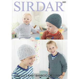 4889 Boy's Sweaters and Hat PDF