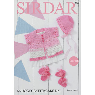 4920 Cardigan, Bonnet, Mittens and Bootees PDF