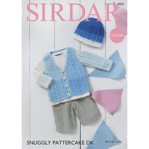View larger image of 4921 Cardigan and Hat PDF