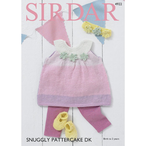 View larger image of 4922 Pinafore Dress, Shoes and Headband PDF