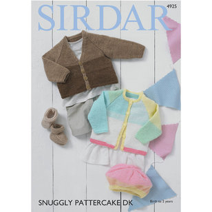 4925 Baby Girl's and Boy's Cardigans, Bootees and Beret PDF