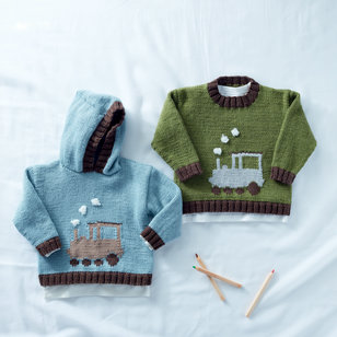 5290 Round Neck and Hooded Sweater in Snuggly DK PDF