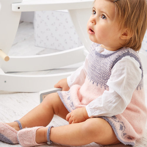 View larger image of 5301 Pinafore and Shoes in Snuggly 100% Merino PDF