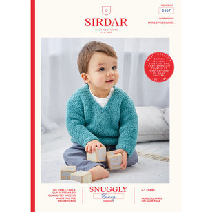 5307 V-Neck and Round Neck Pullover in Snuggly Bunny PDF