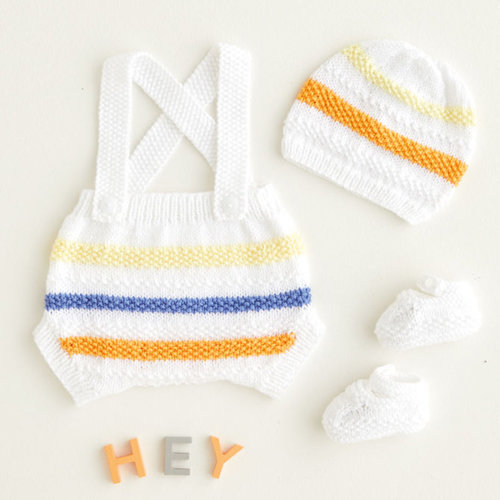 View larger image of 5409 Rainbow Romper, Hat & Booties PDF