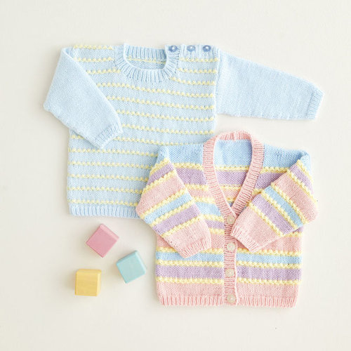 View larger image of 5413 Rainbow Stripe Cardigan & Pullover PDF