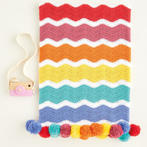 View larger image of 5414 Crochet Rainbow Chevron Blanket in Snuggly DK PDF