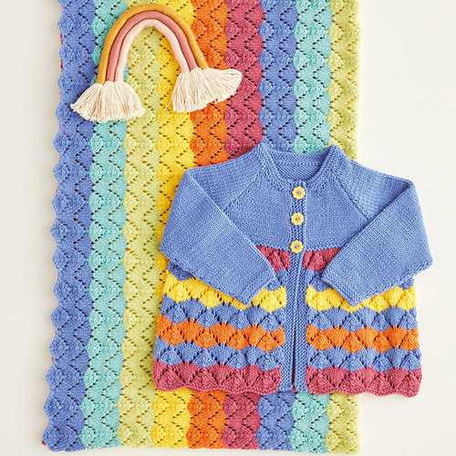 View larger image of 5416 Rainbow Matinee Coat & Blanket PDF