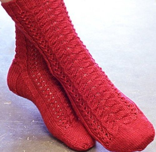 View larger image of Cherry Lane Socks and Cowl PDF