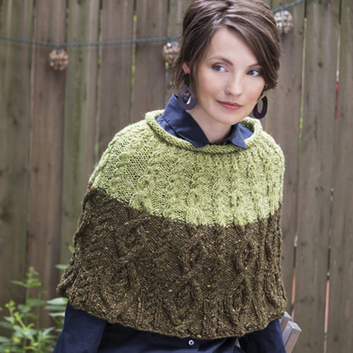 View larger image of Cruiser Cabled Colorblock Capelet PDF