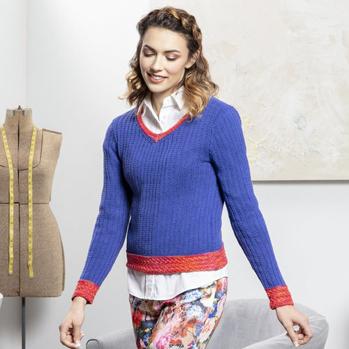 View larger image of 05 V-Neck Pullover in Bamboo Pop PDF