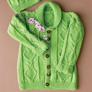 Early Spring Cardigan and Hat PDF