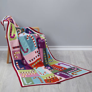 114 Candy Canes Blanket PDF