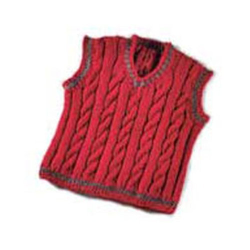 View larger image of 119B Daddy & Me Boy's Cabled Vest (Free)