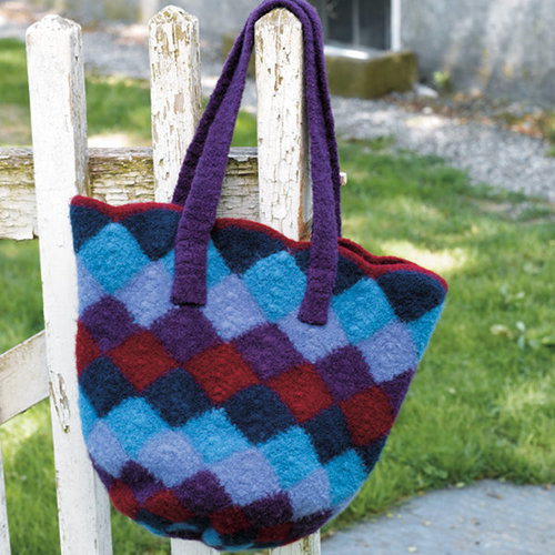 View larger image of 172 Felted Entrelac Bag (Free)