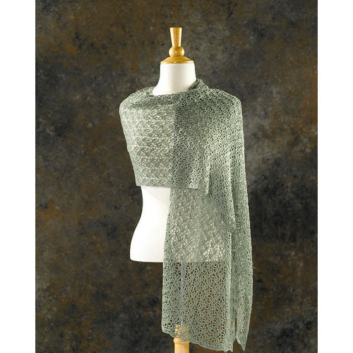 View larger image of 205 Crocus Bud Crocheted Shawl