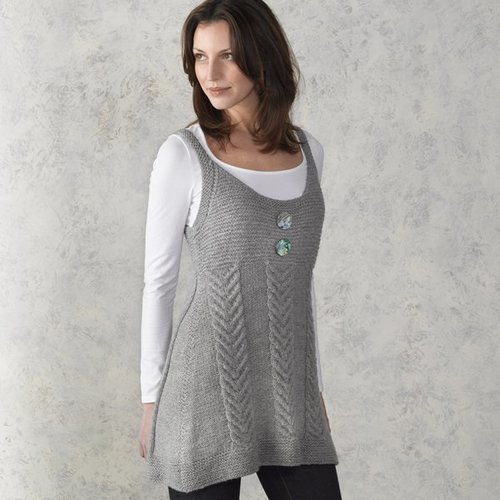 View larger image of 210 Staghorn Cabled Tunic
