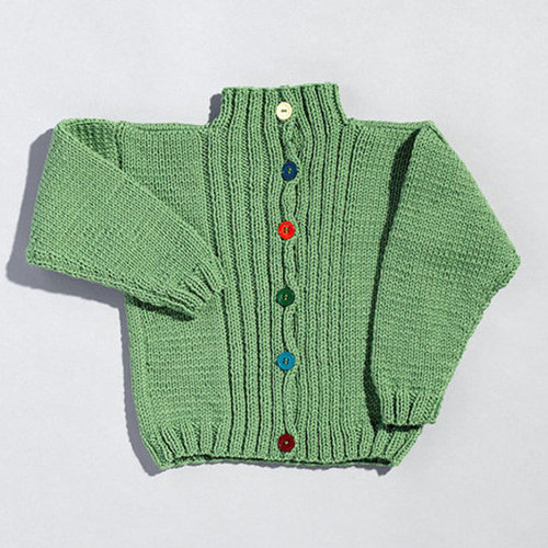 View larger image of 211 Ribbed Front Child's Cardigan