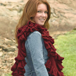 231 Ruffled Scarf in the Round PDF