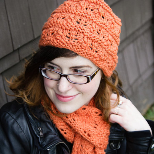View larger image of 275 Feather and Garter Hat and Scarf