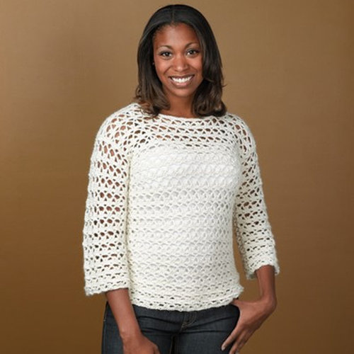 View larger image of 342 Arch and Picot Crocheted Pullover