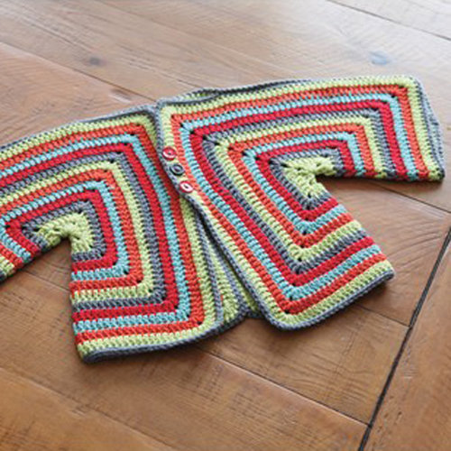 View larger image of 359 Carle Crocheted Baby Cardigan