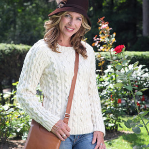 421 Pearl Street Cabled Pullover