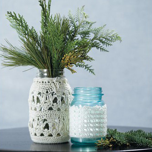 View larger image of 575 Crocheted Lace Jar Covers (Free)