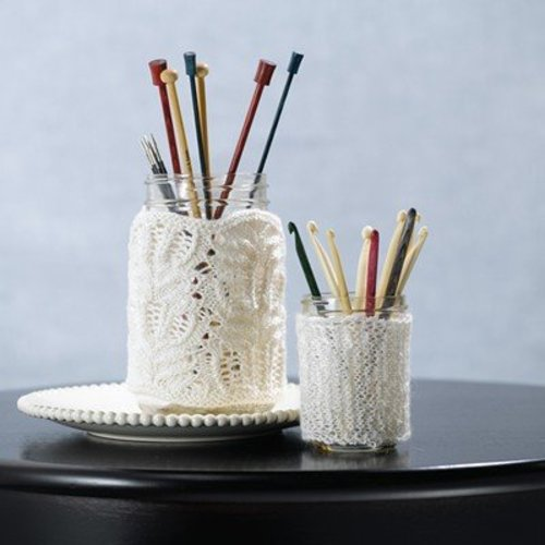 View larger image of 576 Knit Lace Jar Covers (Free)